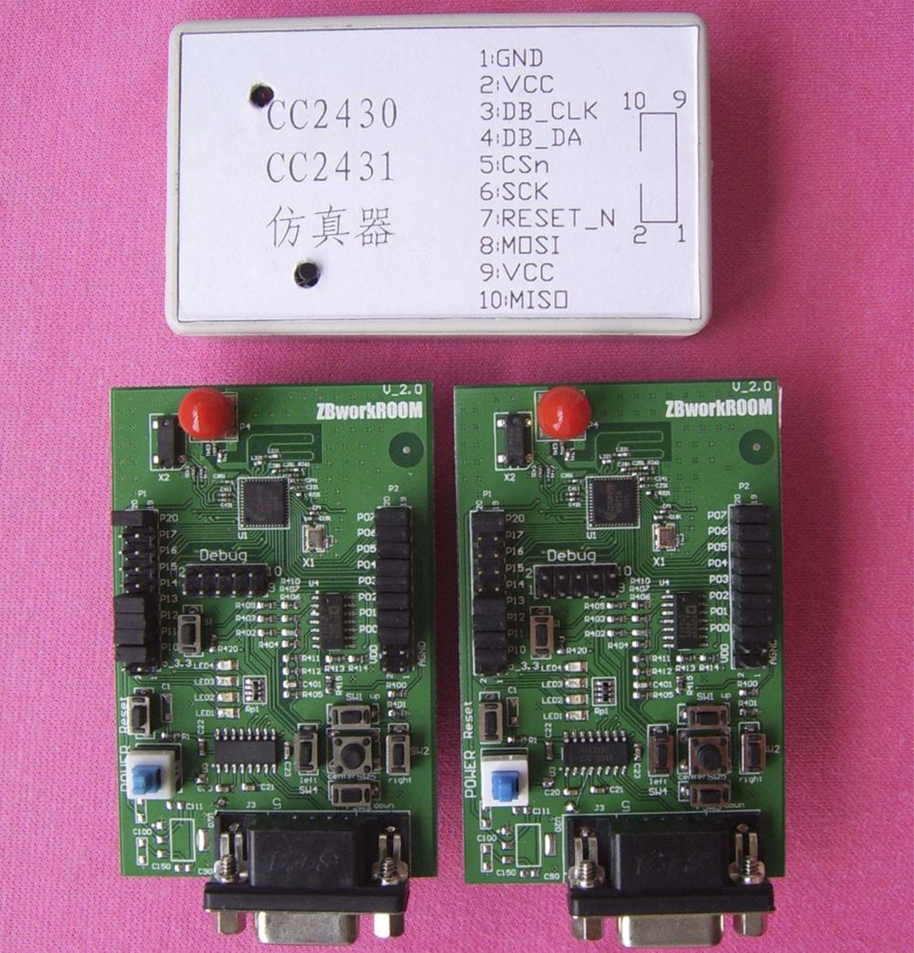 CC2430 Module Development Kit 2 module 1 emulator TI official board design ZigBee tutorial pdf freeshipping rs232 to zigbee wireless module 1 6km cc2530 chip