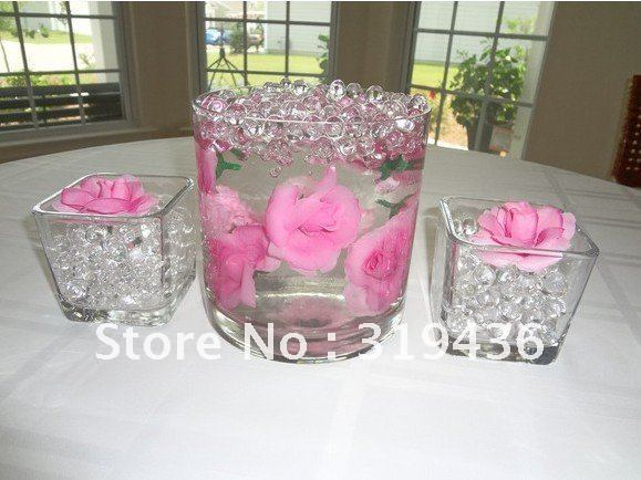 beautiful clear glass vase filler decor using high clear transparent clear water beads wholesale. Black Bedroom Furniture Sets. Home Design Ideas