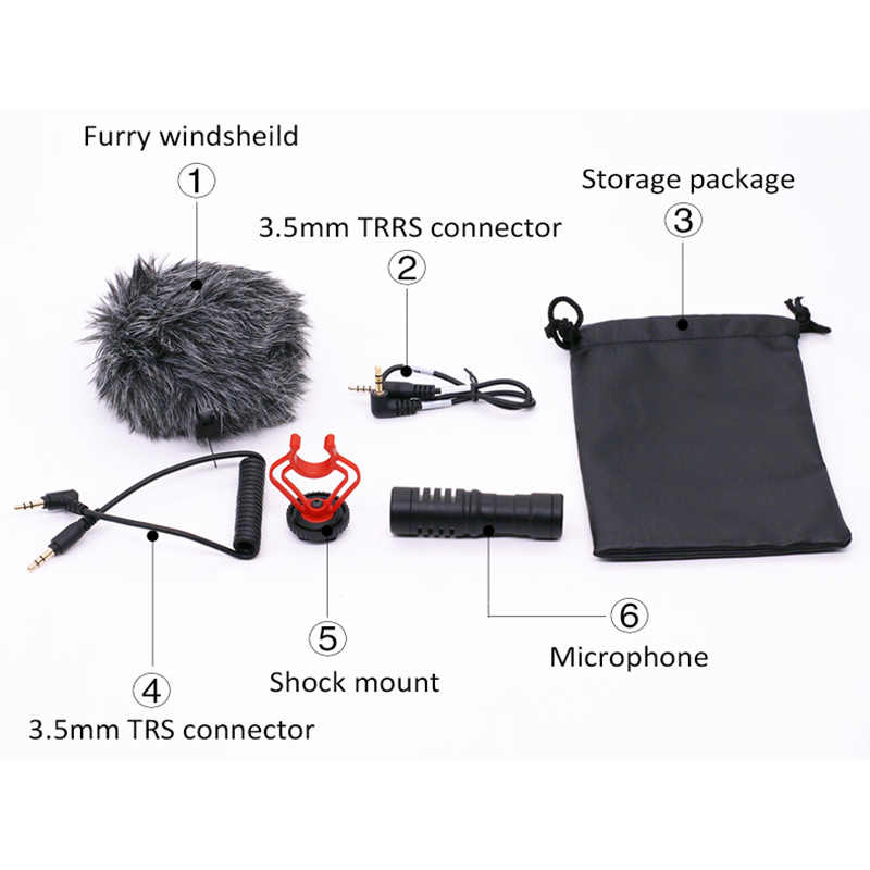 Microfoon Video Interview Microfoon Voor Dslr Camera Voor Iphone Andriod Telefoon Tablet Pc Macbook SGA998