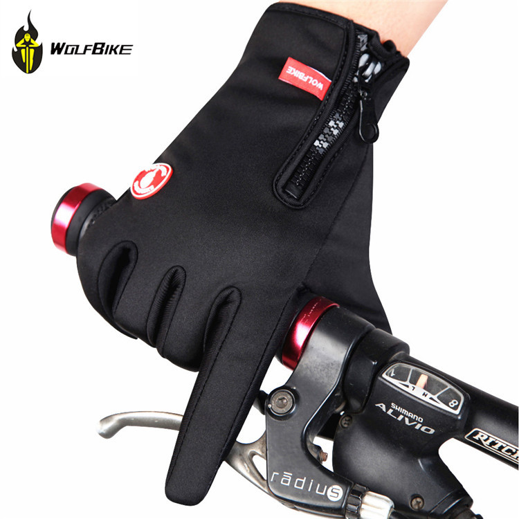 WOLFBIKE Windstopper Outdoor Sports Skiing Touch Screen Glove Cycling Gloves Mountaineering Military Motorcycle Racing Gloves