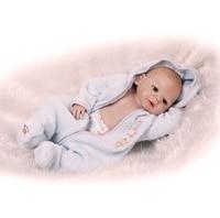 55cm Full Body Silicone Reborn Baby Boy 22 Lifelike Bebe Newborn Boy Cute Birthday Gift Waterproof Body Bathe Toy