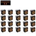 TIPTOP 20XLOT New 12*15W RGBAW Slim DMX LED Flat Par Can,Amber Color LED Slim Par Light Disco Club Party 5 Color Change Strobe