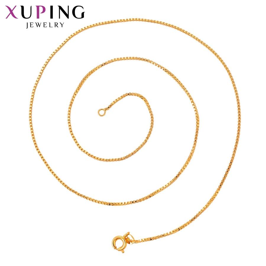 11,11 сделок Xuping модные благородные Цепочки и ожерелья из чистого золота Цвет покрытием украшения для Для женщин Рождество подарки S80, 5-44163