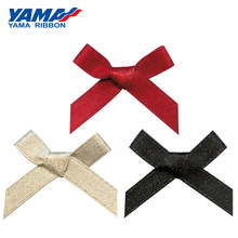 YAMA Wide 32mm±3mm High 27mm±3mm Hand-Tied Bow 200pcs/bag Satin Gold Silver Edge Purl Ribbon Diy Gift Decoration Wedding Ribbons