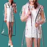 Transparente De PVC Capa impermeable largo poncho De las mujeres De los hombres a prueba De agua al aire libre Capa De lluvia Capa De Chuva De Chubasquero impermeable