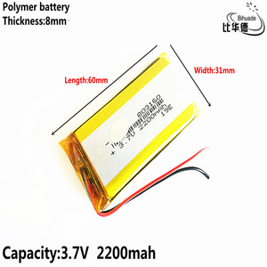 Image 5 - טוב Qulity ליטר אנרגיה סוללה 3.7 V, 2200mAH 803160 פולימר ליתיום יון/ליתיום סוללה עבור tablet pc בנק, GPS, mp3, mp4