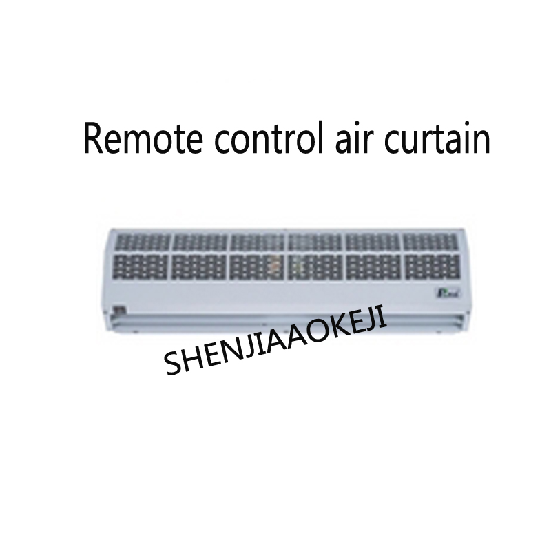 Heating Air Remote Control Air Curtain Machine Silent 9m/s Food Display Keep The Temperature Display Cabinet 220V