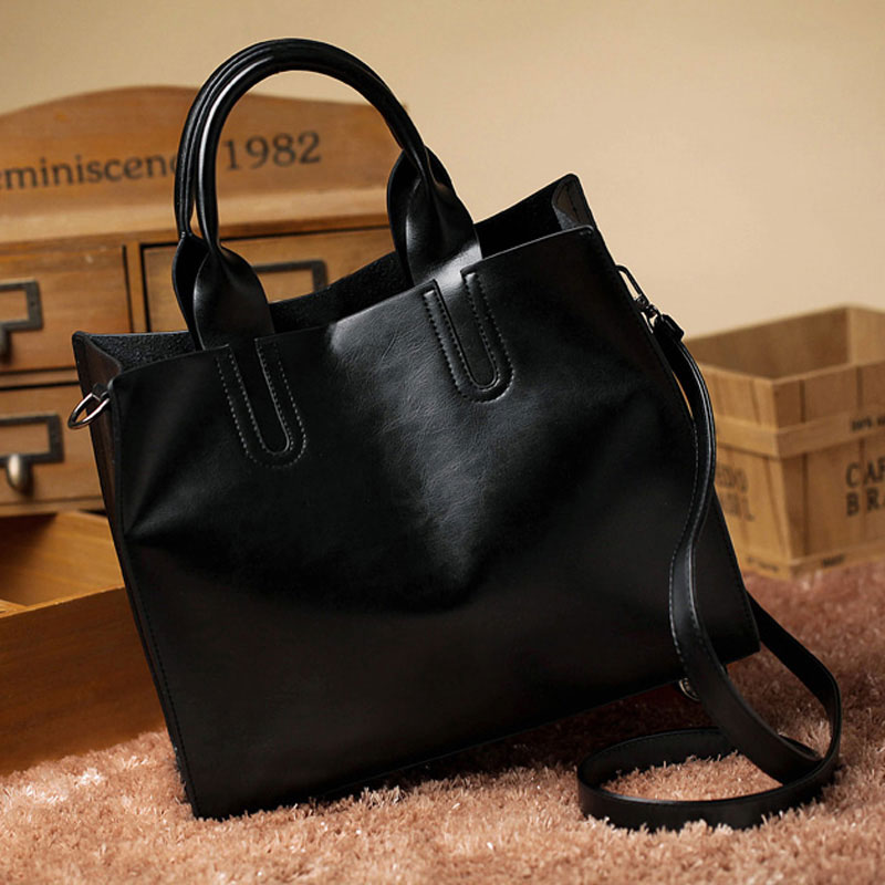 1ccbe2c81e Leather Bags Handbags Women Famous Brands Big Casual Women Bags Trunk Tote spain  bag Shoulder Bag Ladies large Bolsos Mujer -in Shoulder Bags from Luggage  ...