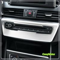 For BMW 2 Series Active Tourer F45 / Gran Tourer F46 2015 2018 ABS Matte Auto Volume Adjustment Button Trim Sticker Cover 1*
