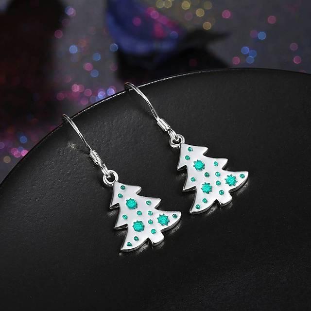 Christmas Tree Hook Earrings