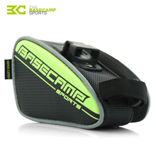 BASECAMP Bicycle Saddle Bag Accessories Seat Rear PU Bags Mountain Road Bike Reflective Waterproof Cycling Seatpost Bag H5502