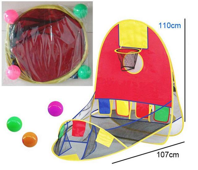 As crianças brincam tenda casa de jogo de basquete cesta tenda ao ar livre esporte melhor crianças educacionais toys praia gramado tenda oceano piscina de bolinhas