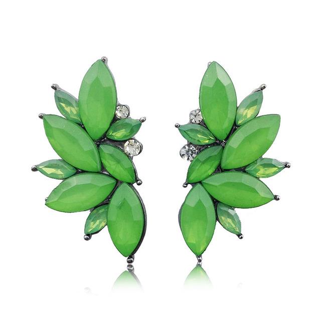 Women Elegant Crystal Earrings Christmas Gift