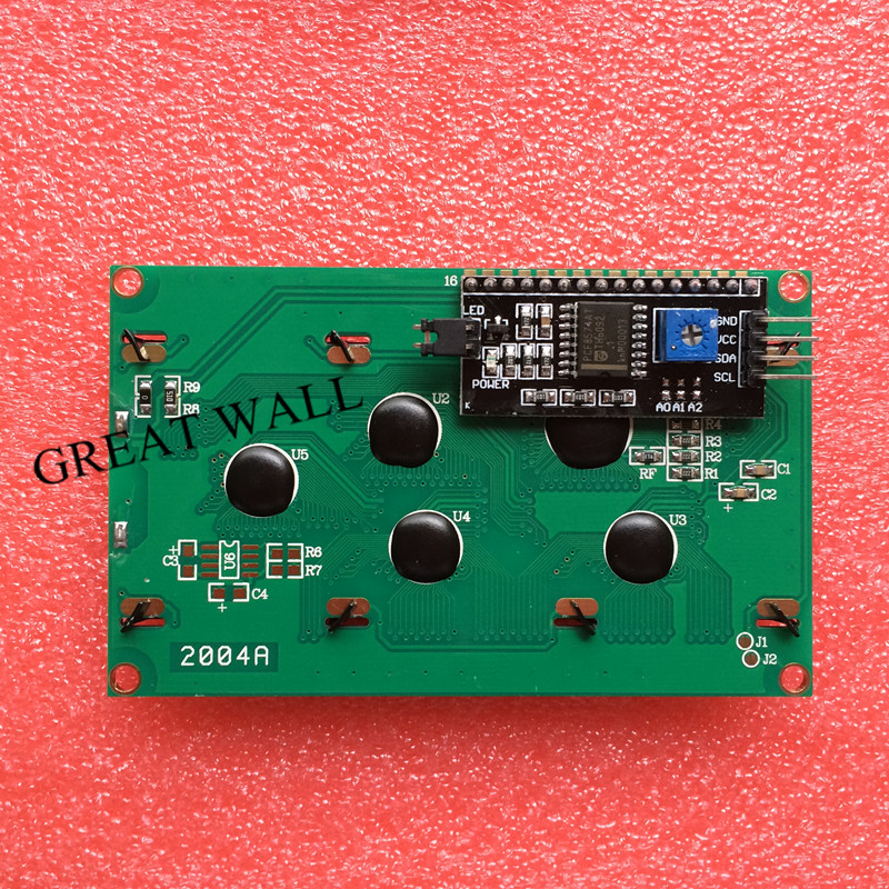 1PCS LCD2004+I2C 2004 20×4 2004A blue screen HD44780 for arduino Character LCD /w IIC/I2C Serial Interface Adapter Module
