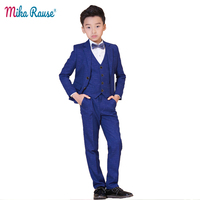 2019 Spring autumn kids plaid suits boys blazers formal clothes teenagers winter trendy coat costume flower boy wedding clothing