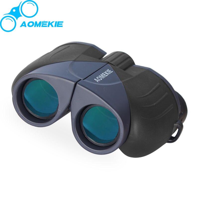 AOmekie 10x25 бинокль HD широкие поля зрения полным покрытием объектив Отдых на природе Охота оптический телескоп Спорт участники карманный размер