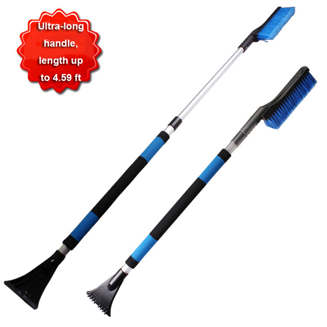 4.59 ft long handle Car Snow Shovel Ice Scraper Retractable Handle Applicable to Car, SUV The handle length is 100 cm to 140 cm