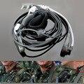 Анти-шум громкой связи палец PTT горло акустическая трубка наушники для Baofeng Kenwood UV5R рация аксессуары