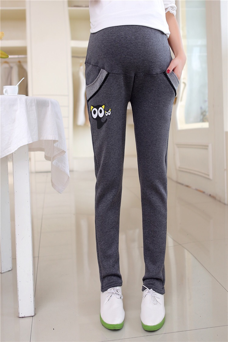 d2d11ccb3b444 Maternity clothes winter maternity fashion velboa pants velour plus  trousers belly pants Thermal pants for pregnancy women-in Pants & Capris  from Mother ...