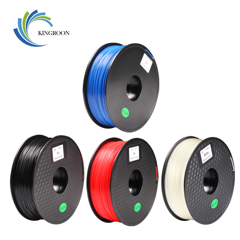 KINGROON 1KG ABS 1.75mm Filament 3D Printer Extruder MakerBot RepRap Plastic Rubber Supplies Filament Material DIY Print Part
