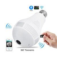Bulb Light Wireless IP Camera 1 3MP HD HPanoramic Wi Fi Lamp FishEye WIFI Camera 360