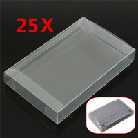 For SNES 25x Game Cartridge Protector Case For Super NES Plastic Cover Box For Nintendo Brand