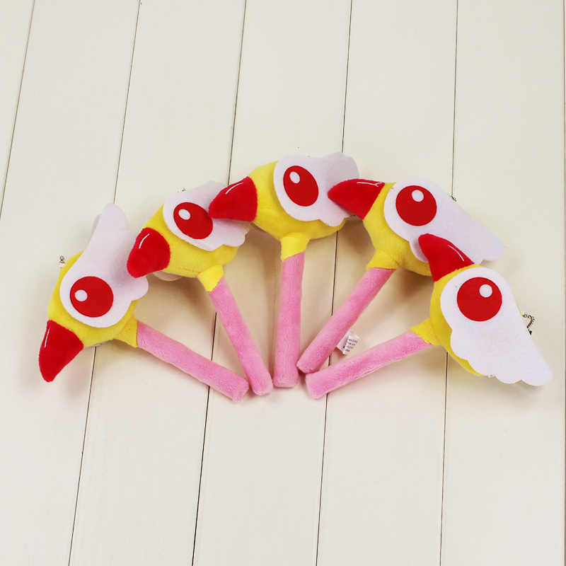 15 cm Sakura Cardcaptor Sakura Cây Đũa Thần Đồ Chơi Sang Trọng Thẻ Captor Sakura Thú Nhồi Bông Mặt Dây Chuyền