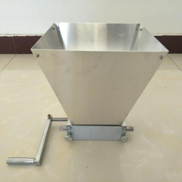 Ferramentas en gros artisanat Malt moulin blé pour broyeur de grains maison brassée Machine à bière avec deux rouleaux en acier au carbone 2 45 #