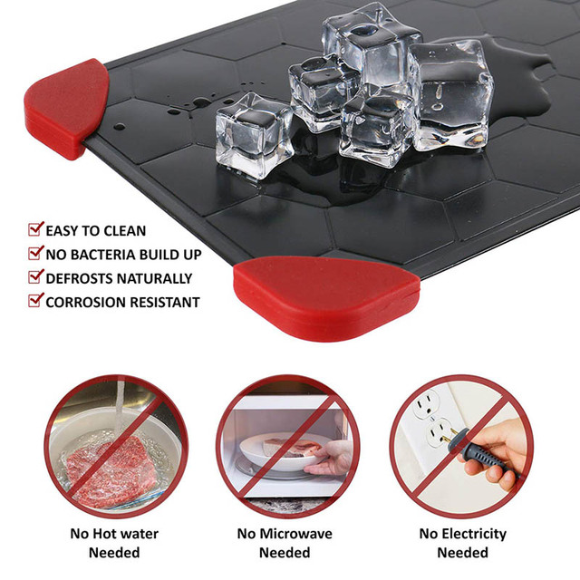 Fast defrosting tray meat and defrost tray thaw aluminum