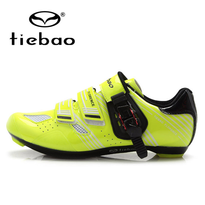 ФОТО TIEBAO Professional Men Women Road Bike Cycling Shoes Racing Bicycle Breathable Self-locking Sport Shoes zapatillas clismo