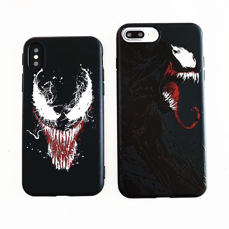 Hot American comics Venom Soft silicon cover case for iphone 6 S 7 6S 7plus 8 8plus X 10 XR XS Max Marvel 3D relief phone coque iPhone