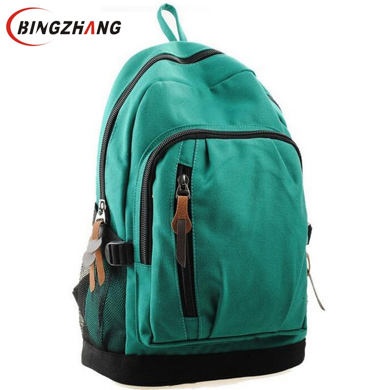 Student School Travel bags Patchwork Women's Colorful Canvas Backpacks Girl Lady Preppy Style backpack L7-349