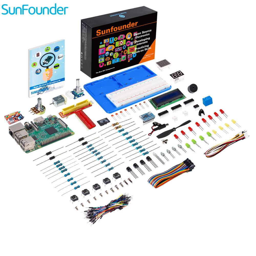 SunFounder Progetto Super Kit V3.0 per Raspberry Pi Modello B + 3B 3 2B B + A + A Zero (incluso Raspberry Pi 3B Bordo)