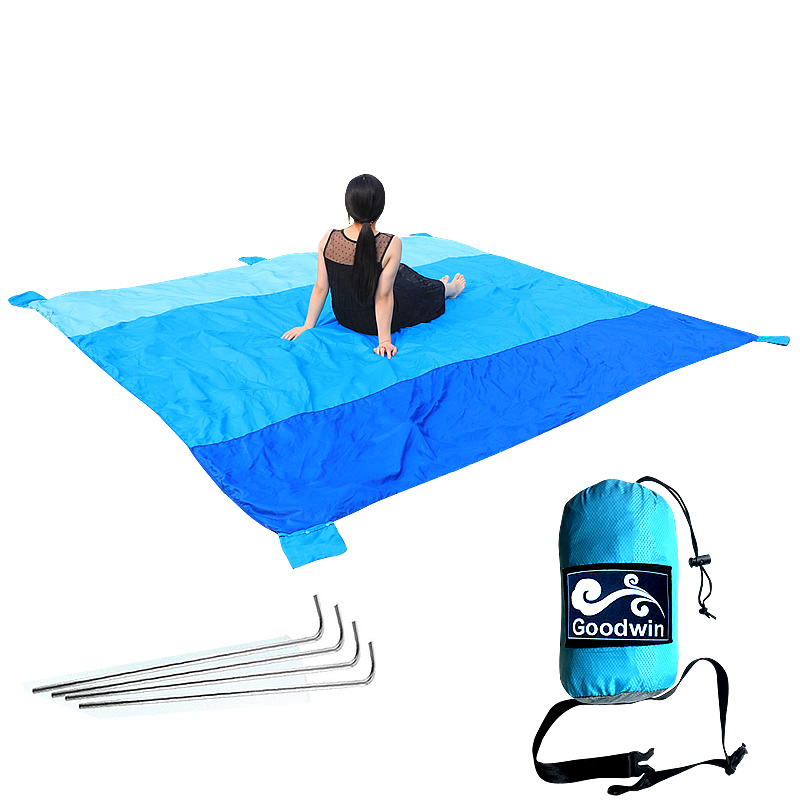 Sand Free Compact Outdoor Beach / Picnic Blanket- Huge 305*275cm For 7 Adults Best Mat For Festivals & Hiking-Very Soft & Quick waterproof outdoor blanket picnic beach blanket mat rug s m l
