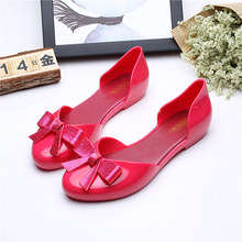 Mini Melissa Big Bow For Woman Jelly Sandals 2018 Summer Mom daughter Shoes Women Soft 23-25cm