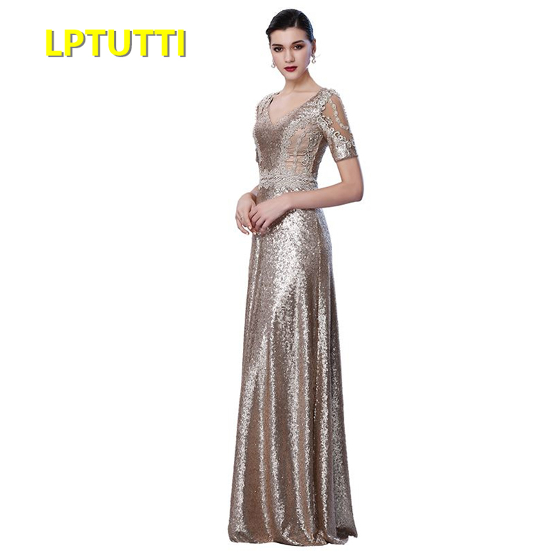 LPTUTTI Sequin Embroidery Plus Size New For Women Elegant Date Ceremony Party Prom Gown Formal Gala Luxury Long Evening Dresses gown