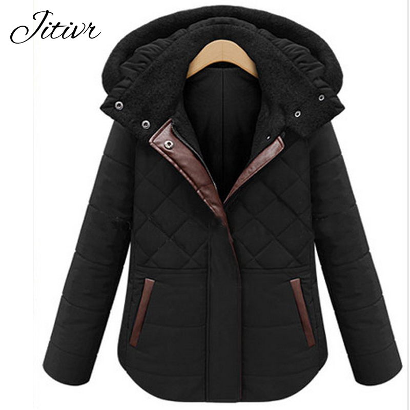 2017 New Women s Coats Fashion Slim Warm Thick Female Jackets Plus Size Solid With Zipper