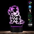Ночная лампа Longhair такса для щенков  собак  домашних животных  светодиодная лампа для сна  3D лампа  настольная лампа для домашних животных  лю...