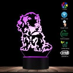 Longhair jamnik lampka nocna szczeniaczek rasa zwierzęta LED lampka nocna zwierzęta 3D lampka biurkowa światło miłośnik zwierząt właściciel oświetlenie prezent