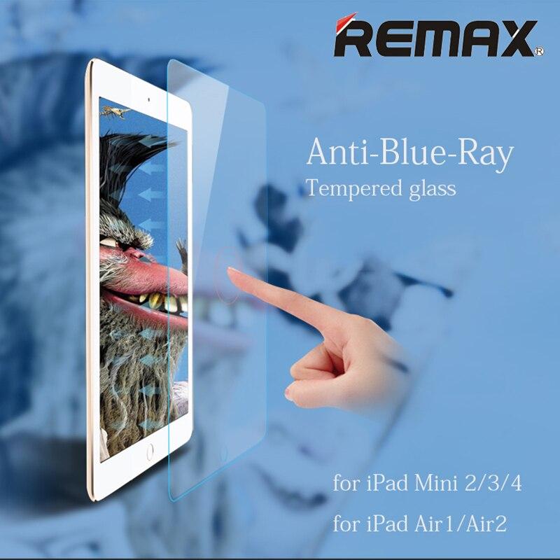imágenes para Protector de pantalla de cristal templado para ipad mini 2 3 4 ipad air air2 original remax vidrio templado anti blue ray película