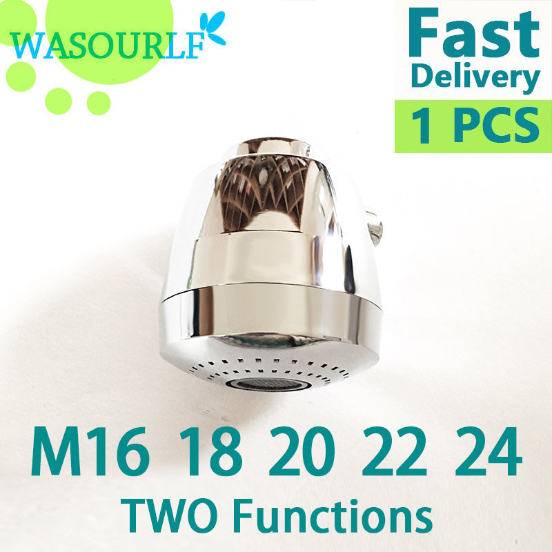 WASOURLF 360 Faucet Aerator Tap Adapter Kitchen Faucet Shower Chrome Spout Shower M18 M20 M22 M24 Female Thread Accessories in Kitchen Faucet Accessories from Home Improvement