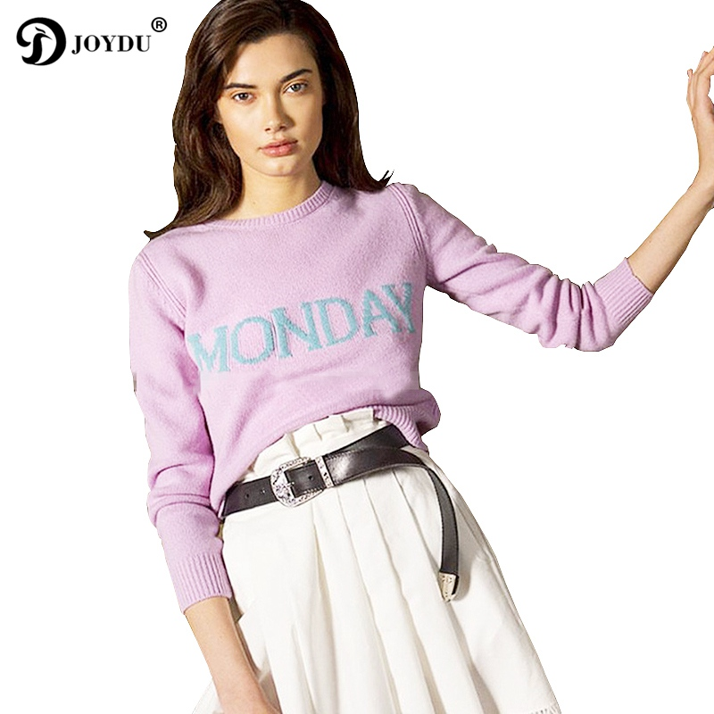 Cute Fashion Week Women Sweater Chic Knitting Jumper Monday Tuesday Wednesday Thursday Friday Saturday Sunday Runway Pullovers ...