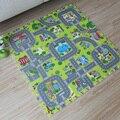 2017 Novo! 9 pcs puzzle de espuma EVA Bebê tapete jogo, Educação e telhas de bloqueio e rota de tráfego chão pad (sem borda)