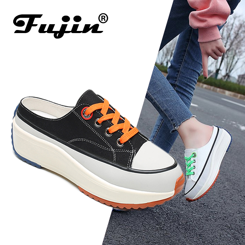 Fujin Sneakers Flat-Shoes High-Top Spring Canvas Female Women Summer Chic And Casual
