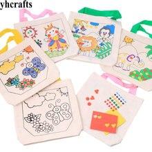 4 шт./LOT.4 дизайн незавершенный холщовый мешок хозяйственная сумка Рисование игрушки Ранние развивающие игрушки. детский сад искусство ремесла конфеты сумки