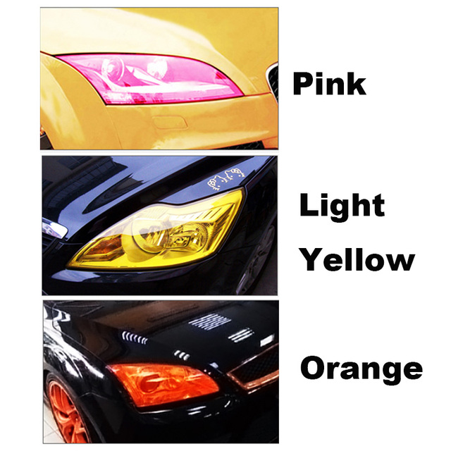 Auto Car Tint Headlight Taillight Fog Light Vinyl Smoke Film Sheet Sticker Cover Car styling 12inch x 40inch 3