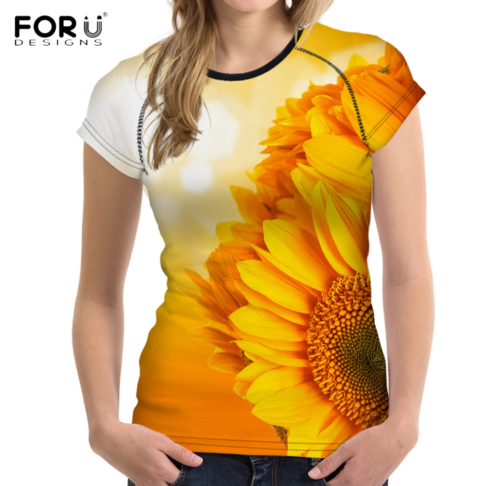 Forudesigns Llama Cactus Printing Women 3d T Shirts Short Sleeve O-neck Bodybuilding Wear Girls Casual Clothing Tops Tshirts Tee Special Summer Sale Women's Clothing T-shirts