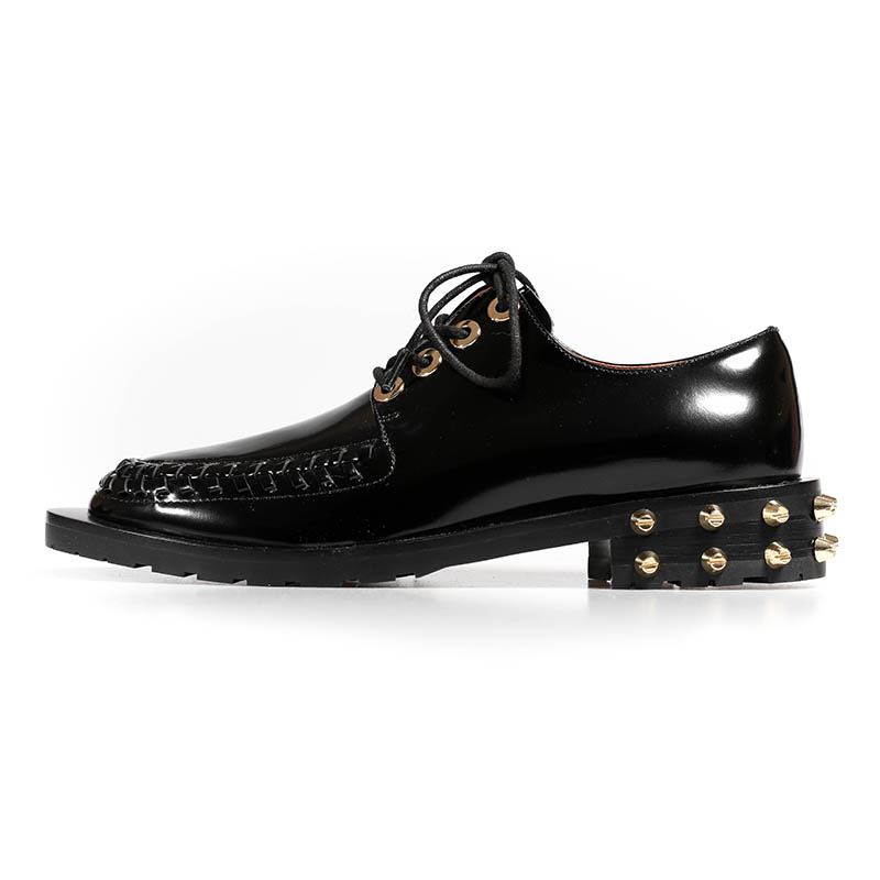 New spring/summer 2019 women's shoes rivet buckle flat bottom and ankle boots