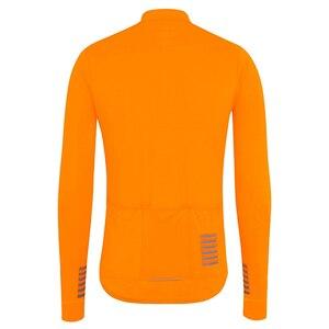 Image 4 - Completa ciclismo invernale pro equipe 2020 inverno velo térmico manga longa jérsei conjunto laranja mtb bicicleta maillot ciclismo