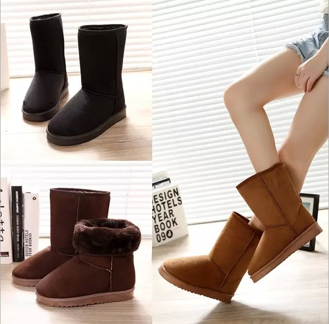 5d58548c500 Detail Feedback Questions about Warm Snow Mid Calf Boots Flats ...